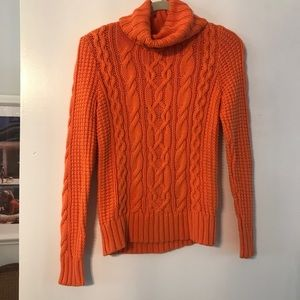 Ralph Lauren Orange Nit Turtle Neck